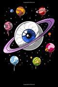 Psychedelic Notebook: Psychedelic Space eye Trippy Cosmic Planets Notebook (libro en Inglés)