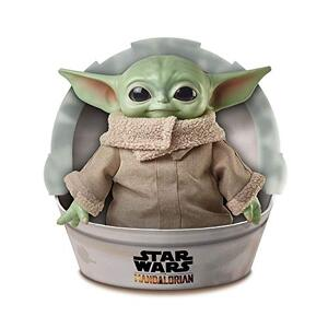 """Star Wars Grogu Plush Toy, 11-in """"The Child"""" from The Mandalorian, Collectible Stuffed Character for Movie Fans, Ages 3 Years and Older  (B0825SNHP1-com) new"""