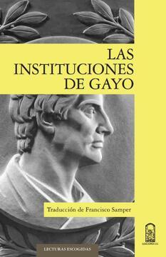 portada Las instituciones de Gayo